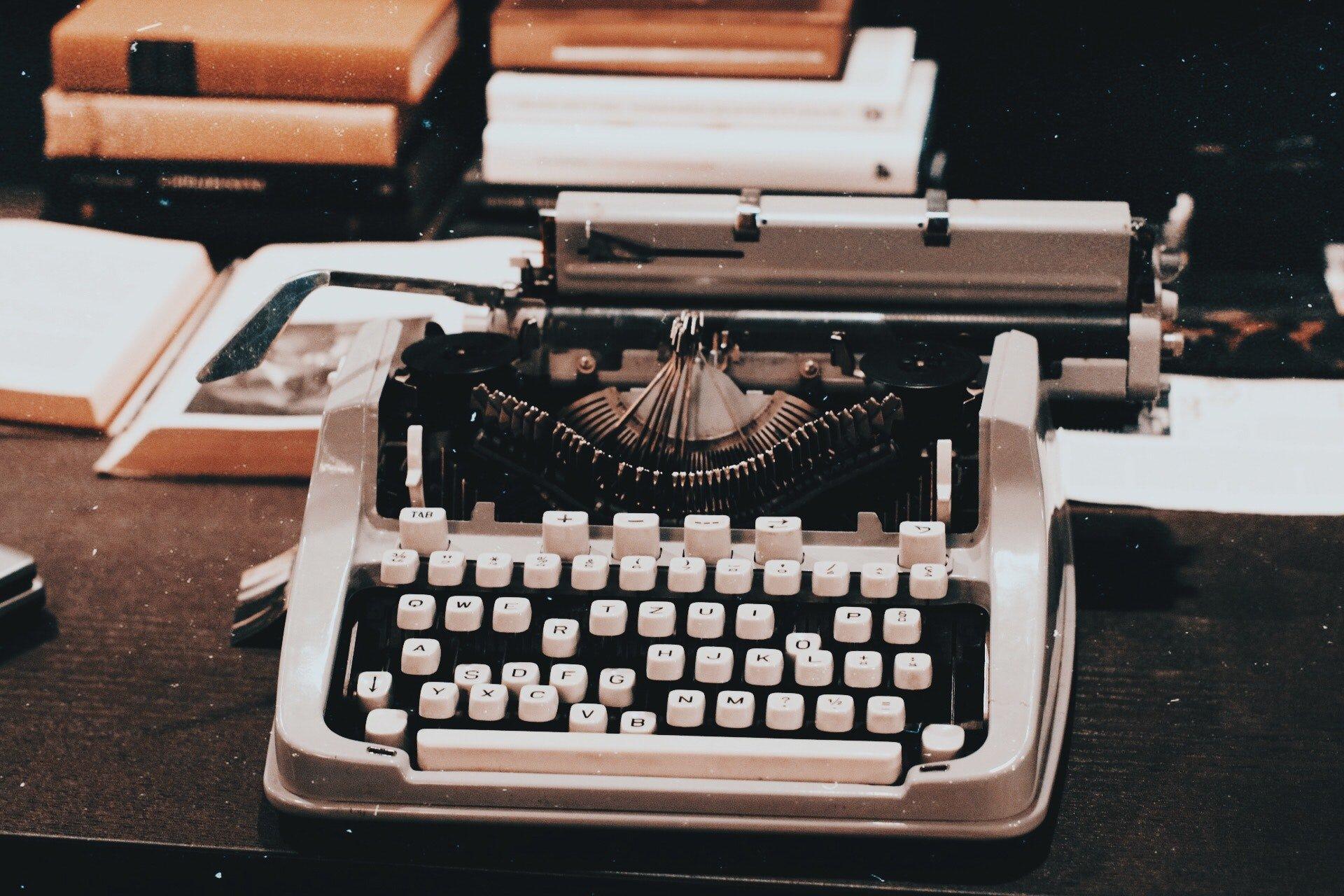 Business Friend Typewriter Image